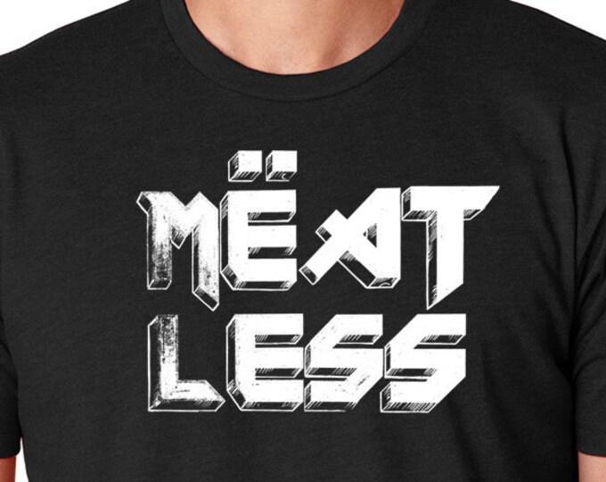 Vegan Tee, Funny Vegan Shirt, Vegan Heavy Metal Top, Vegan Gift, Gift For Her