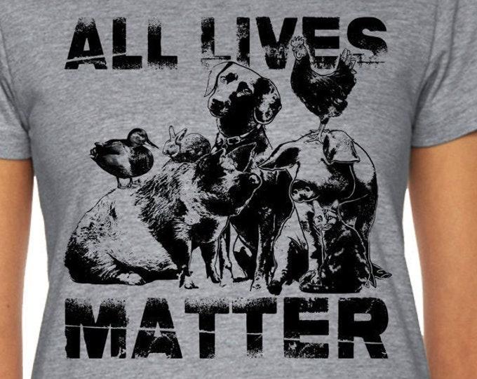 Animal Lover Shirt, All Lives Matter Shirt, Vegan Shirt, Friends Not Food Shirt, Animal Rights Shirt, Save The Animals Shirt, All Dogs Shirt