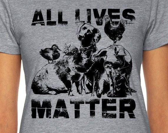 Animal Lover Shirt | All Lives Matters Animal Rights | Vegan T Shirt | Animal Lover Shirt | Vegetarian Shirt | Vegan Gift | Rooster Shirt