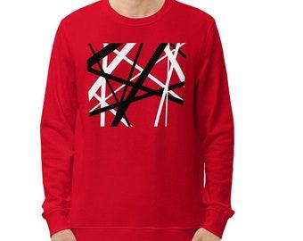 Eddie Van Halen Unisex organic sweatshirt, Guitar player gift, Musician Gift, Guitarist, Van Halen