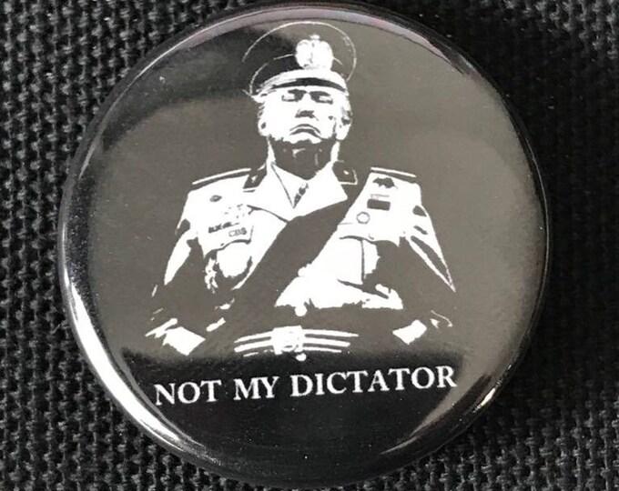 Anti Donald Trump Dictator Button, Resist Button, Election Day 2020 Button, 8645 Impeach Trump Button, Feminist Button, Not My President