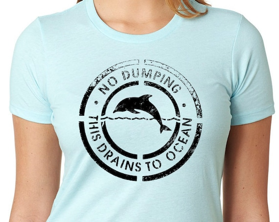 Save the oceans T shirt | Sea Shepherd | Dolphin Lover Shirt | Dolphin Shirt | Ladies Gift