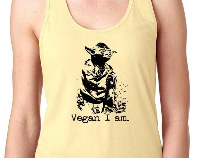 Star Wars Gift,  Yoda Shirt | Star Wars | Yoda | Star Wars Gift | Vegan T Shirt | Animal Lover Shirt | Vegan Life