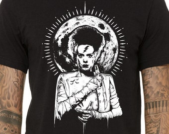 The Bride Of Frankenstein Shirt, Halloween Shirt, Horror Movie Shirt, Monster Shirt, Mary Shelley Shirt, Halloween Gift, Universal Monsters