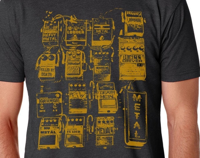Guitar Pedal Shirt, Guitar Shirt, Music Lovers Gift, Musicians Shirt, Rock Shirt, Metal Shirt, Rock And Roll Shirt, Music Gift,Guitar Tshirt