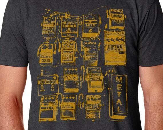 Guitar Pedals T Shirt | Music Lover's Shirt | Guitar Player Shirt | Guitar Shirt | Music Lover Gift | Musician Gift | Music Teacher Gift