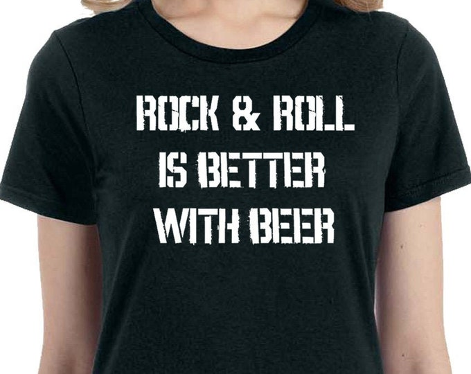 Rock and Roll and Beer T Shirt | Beer Lover's Shirt | Rock and Roll Shirt | Beer Lover Gift | Funny Beer Shirt | Music Lover Shirt