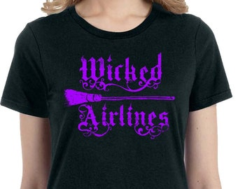 Wicked Airlines Shirt, Witch Shirt, Wicca Shirt, Halloween Witch Shirt, Halloween Shirt, Halloween Tee, Halloween Tshirt, Witch Tshirt