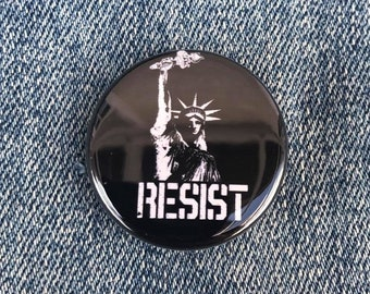 Resist Trump Liberty 1 inch Button, Political Buttons, Buttons For Protests