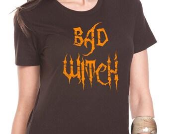 Bad Witch Shirt, Halloween Shirt, Wicca Shirt, Halloween Tshirt, Halloween Tee, Funny Halloween Shirt, Halloween Gift, Witch Tshirt