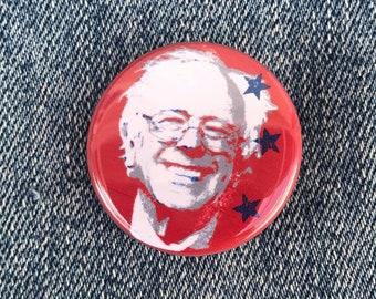 Bernie Sanders 2021 Button, Bernie Sanders Star Button, Feel The Bern Button, Anti-Trump Button Gift For Him, Bernie Meme Button, Bernie