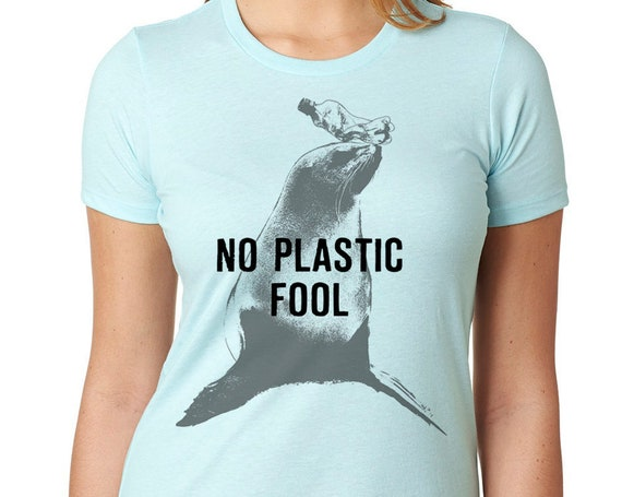 Funny Seal Shirt, Save The Oceans , No Plastic, Women Ladies Funny Birthday Gift Present Marine Biology Girlfriend Gift