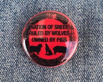 Anti Trump Protest Button, Feminist Gift, Liberal Gift, Resist Button, Nation Of Sheep Button, Women Rights Button, Political Pins, Bidden
