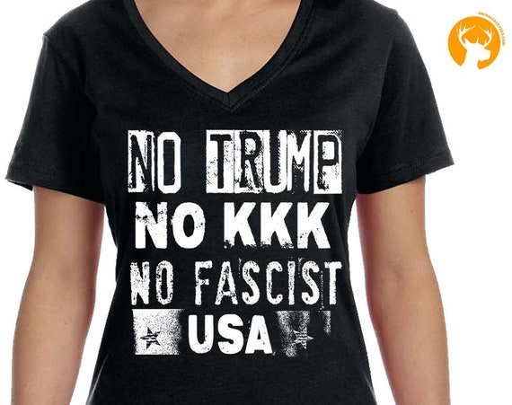 Anti-Trump Shirt, No Trump No KKK No Fascist USA Mens Tshirt, Anti-KKK T-shirt, Stop Fascists, Anti Alt-Right, Peace