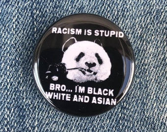 Racism Is Stupid Bro Button, Anti Racism Button, Resist Button, All Lives Matter Button, Black Lives Matter,Justice For Daunte Wright Button