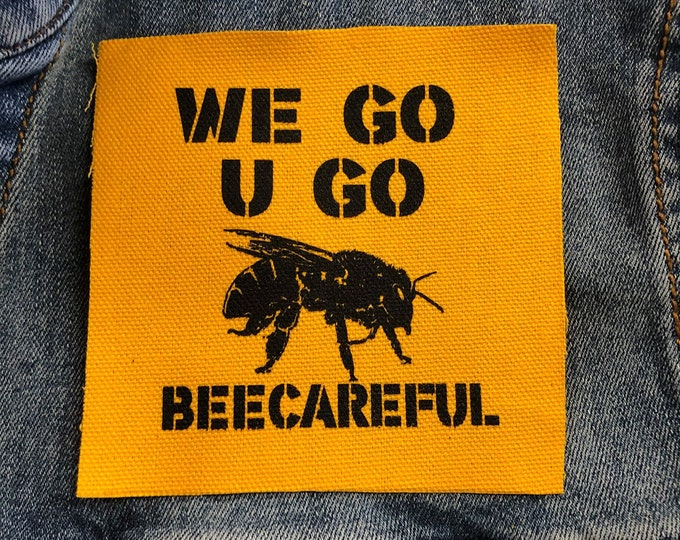 Save The Bee's Patch For Jackets, Bee Patch, Gift for her, awareness patch,