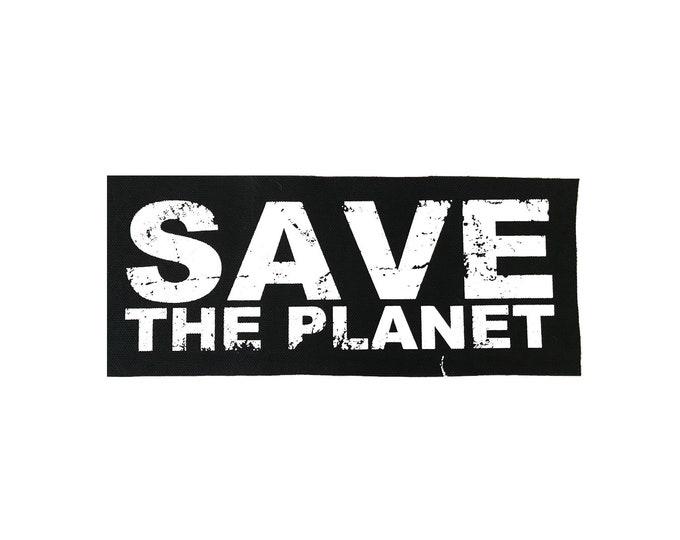 Save The Planet Cloth Patch, Vegan Patch, Punk Patch, Environmental Patch, Save The Planet Gift, Cloth Patch, Planet Patch, Human Patch
