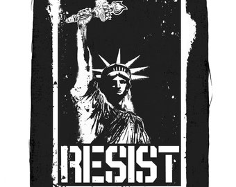 Liberty Resist Back Patch, Statue Of Liberty Patch, Resist Patch, Political Patches, Protest Patches, Large Back Patch, Sew On Patch