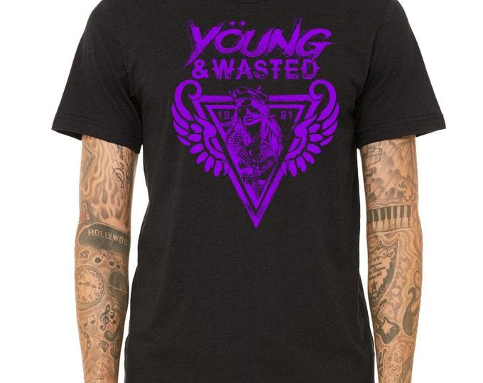 Heavy Metal T Shirt | Band T Shirt | Biker Shirt | Rock Band | Rock Tee | Wing Tee Shirt