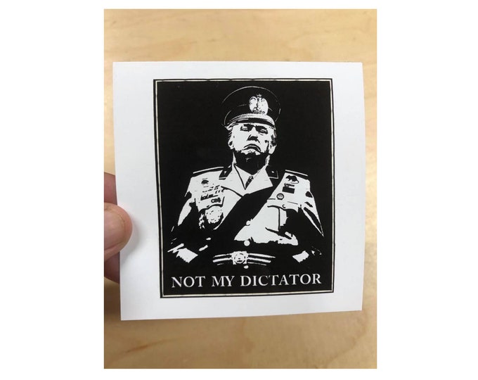 Not My Dictator Sticker, Anti Trump Sticker, Donald Trump Dictator Sticker, Political Sticker, Laptop Sticker, Joe Bidden Sticker, Resist