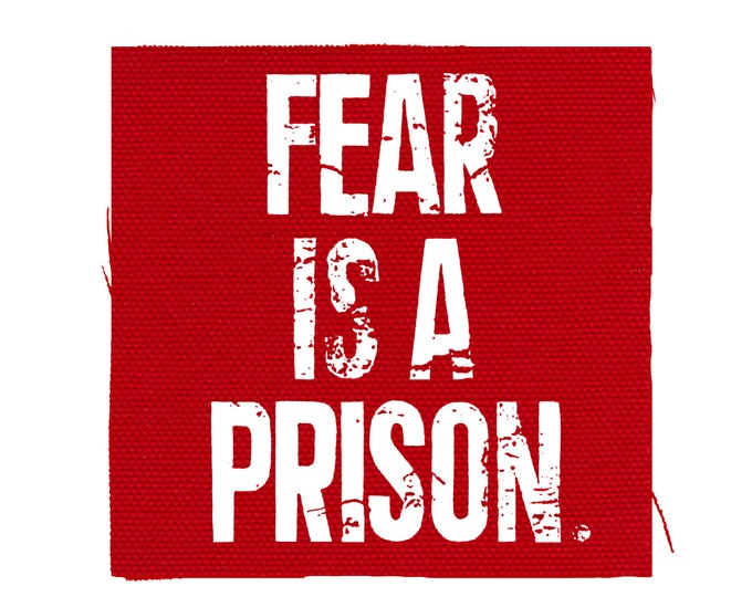 Fear Is Prison Patch, Protest Patch, Election Day Patch, Anti-Establishment Patch, Guy Fawkes Punk Patch, Resistance Patch Denim Jacket