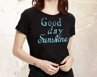 Good Day Sunshine Shirt, Ladies Shirt, 60s Shirt, Spring Shirt, Graphic Shirt, Boho Shirt, Hippie Shirt, 70s Shirt, California Shirt