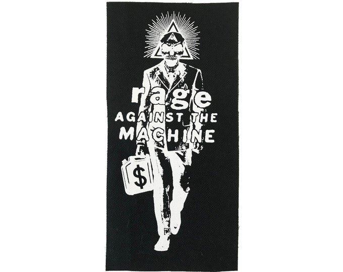 Rage Against the Machine Patch   Backpack Patch   Jean Jacket Patch   Protest Patch   Political Statement   Anti-Greed