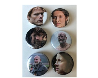 Outlander Button, Historical Drama, Starz, Fantasy, Romance
