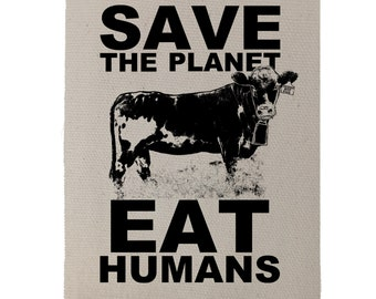 Save The Planet Back Patch, Vegan Patch, Friends Not Food, Vegetarian Patch Gift For Him, Gift, Gift For Her