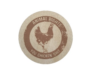 Animal Rights Patch, Vegan Chicken Patch, Animal Lover Gift, Patch For Jackets, Vegetarian Patch, Sew On Patch, Vegan Gift,Funny Vegan Patch
