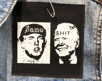 Funny Trump Patch, Biden Patch, Small Patch, Not My President Patch, Anti Trump Patch, Political Patch, Protest Patch, Resist Patch