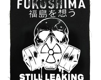 Fukushima Japan Protest Patch, Back Patch, Save Our Planet Patch, Say No To Nukes Patch, Fallout Patch, Japanese Patch, Gas Mask Patch