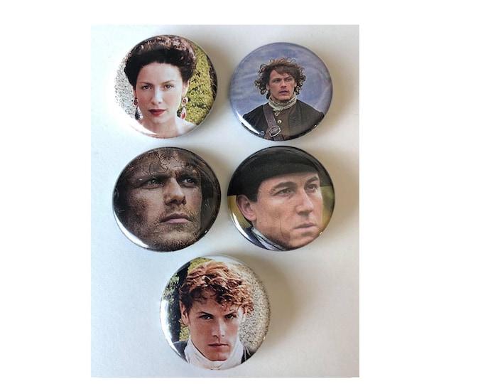 Outlander Button, Small Gift, Historical Drama, Starz, Fantasy, Romance