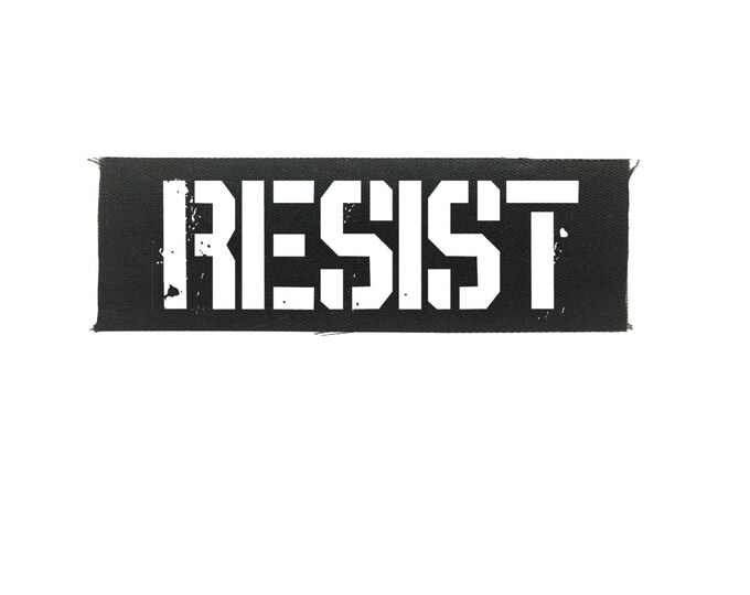 Resist  Small Cloth Patch, Resistance Patch, Back Patch, Protest Patch, Punk Patch, Jacket Patch