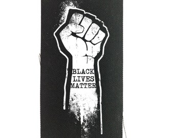 Black Lives Matters Patch, Human Rights Patch, Backpack Patch, Jean Jacket Patch, Protest Patch, BLM Patch, George Floyd, Punk Patch