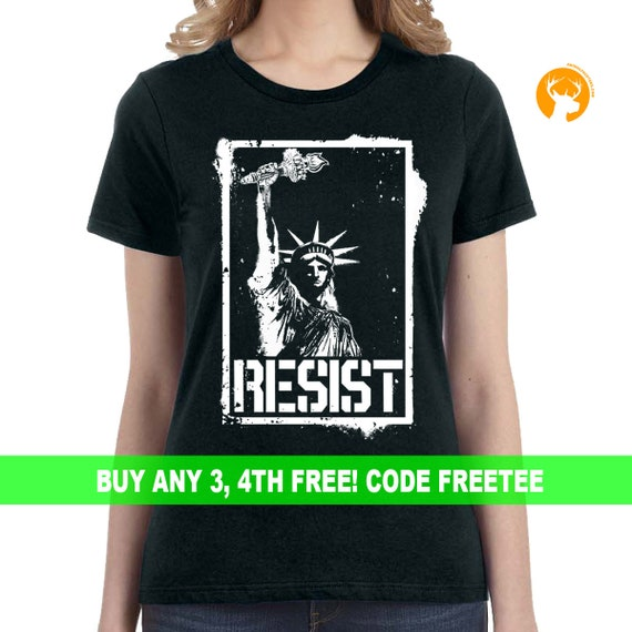 Statue of Liberty Resist T Shirt | Resist Trump | Anti Trump | Resist Shirt | Statue of Liberty | Political Shirt | Political Gift