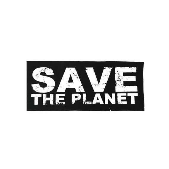 Save The Planet Cloth Patch, Vegan Patch, Vegetarian Patch, Vegan Punk, Environmental Patch