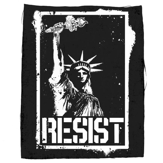 Liberty Resist Back Patch, Statue Of Liberty Back Patch, Resist Patch, Political Patches, Protest Patches, Large Back Patch