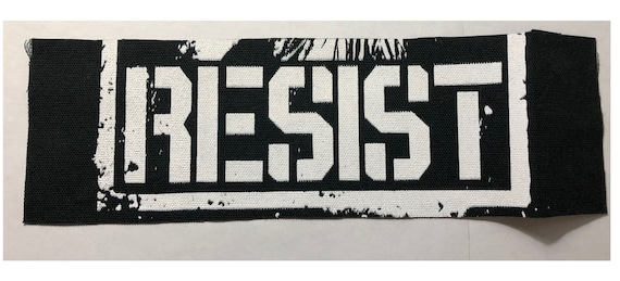 Resist Cloth Patch, Resistance Patch, Back Patch, Protest Patch, Punk Patch, Jacket Patch