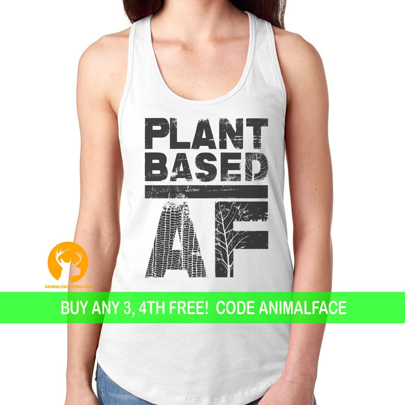 36f65fd8d Vegan AF Graphic Shirt Vegan Gift | Etsy