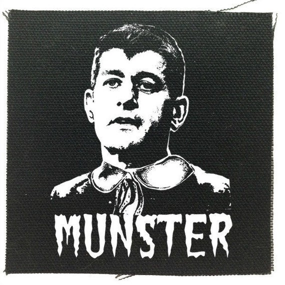 Paul Ryan Munster Black Patch, Anti-Republican Party Patch, Anti-Trump Patch, Funny Political Patches, Raw Edge Canvas Patches,