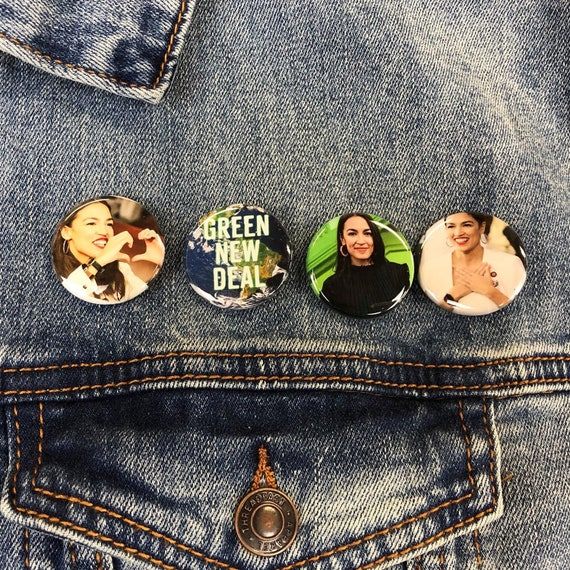 Green New Deal Buttons Set | AOC Buttons | Future Is Female Button| feminist Buttons | The Squad