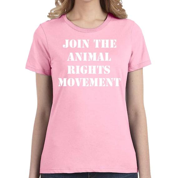 Animal Rights T Shirt | Vegan T Shirt | Vegetarian gift | Vegan Gift | Woman Ladies Gift |Friends Not Food Shirt