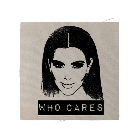 Kim Kardashian Funny Patch, Kardashian Patch, Denim Jacket Patch, Funny Patch