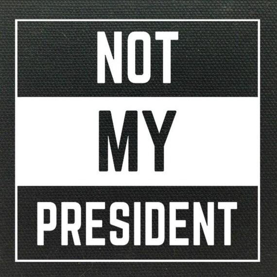 Not My President Resist Patch, Resistance Patch, Anti-Trump Patch, Activist Patch, Punk Patch