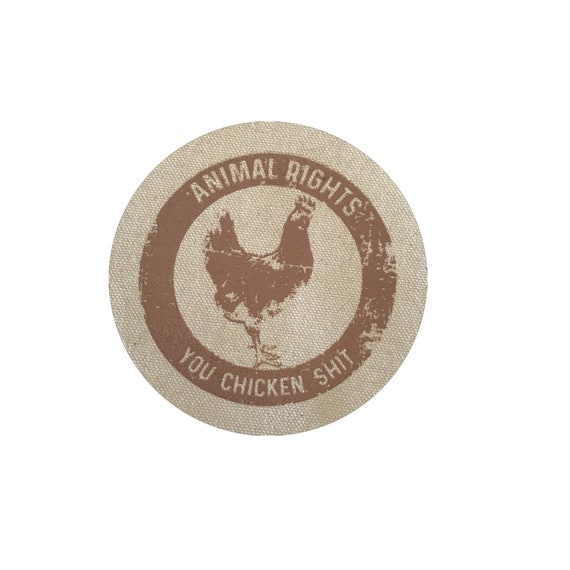 Vegan Animal Rights Chicken Circle Patch, Patches For Jackets, Small Gift Patch, Vegetarian Patch, Vegan Gifts
