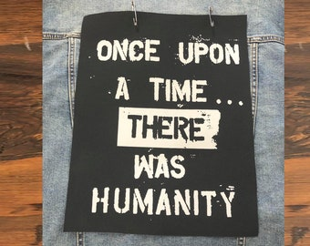 Climate Change Back Patch, Back Patch For Jackets,Punk Patch for Jackets