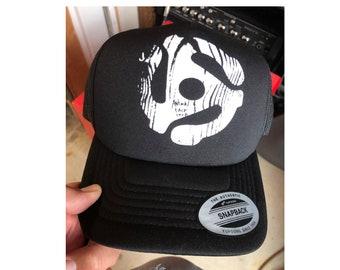 Music Hat, Trucker Cap, Men Cap, Baseball Cap, Musician Cap, Gift For Him, Summer Cap, Musical Hat, Distressed Cap, Hip Hop Cap, Men Gift