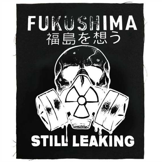 Fukushima Japan Protest  Back Patch, Save Our Planet, Say No To Nukes