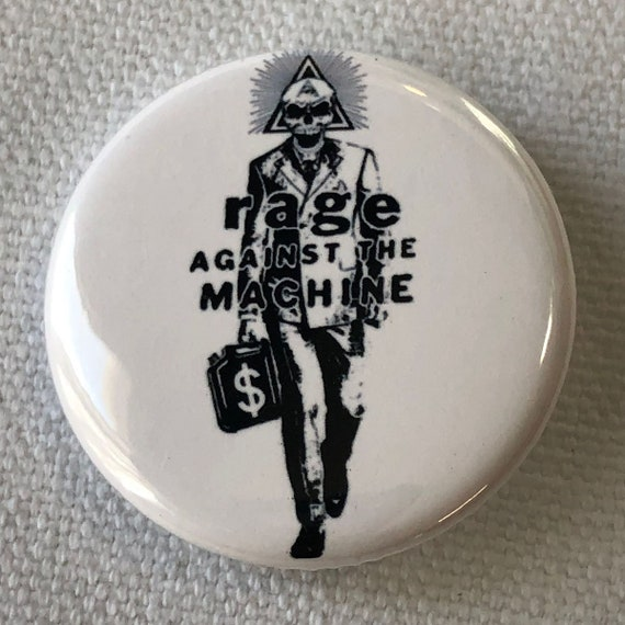 Rage Against The Machine Resist Button, Anti-Greed Button, Resist Corporate Greed, Equality For All,